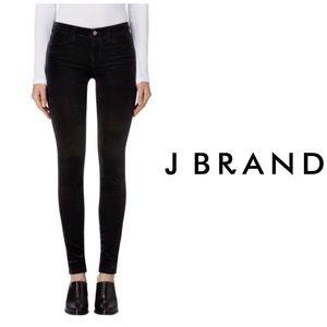 J Brand Mid Rise Super Skinny 👖 Black Velvet
